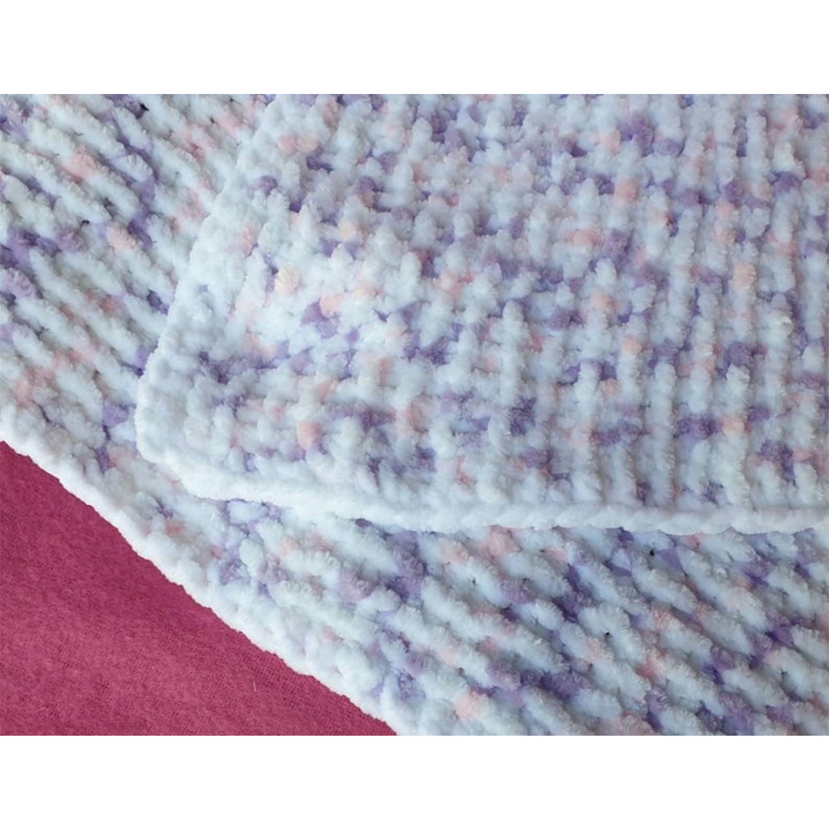 Knitted Fleece Baby Blanket Made In Jersey
